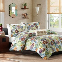 COOL KIDS ROOMS Modern Paisley and Floral 4Pc Comforter Set