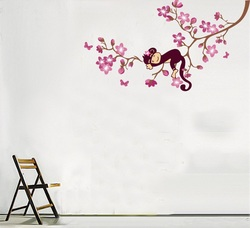 COOL KIDS ROOMS MONKEY WALL DECAL WALL STICKER