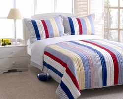COOL KIDS ROOMS Home Prairie Stripe Quilt Set 2 Pc Twin (3 Pc Queen)