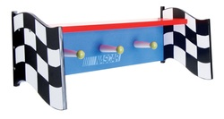 COOL KIDS ROOMS Trend Lab NASCAR Shelf with Pegs