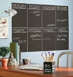 COOL KIDS ROOMS Wallies Peel and Stick Chalkboard, 4-Sheet