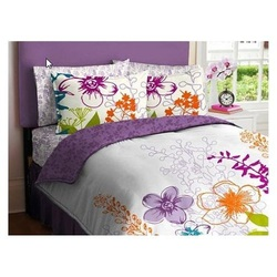 COOL KIDS ROOMS Purple, Green, Orange & White Girls Multi Flower Full Comforter Set 7 Pcs