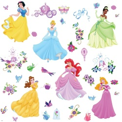 COOL KIDS ROOMS RoomMates Disney Princess Peel & Stick Wall Decals with Gems