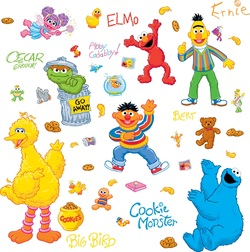 COOL KIDS ROOMS RoomMates Sesame Street Peel & Stick Wall Decals