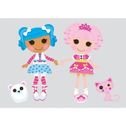 COOL KIDS ROOMS RoomMates Lalaloopsy Peel and Stick Giant Wall Decals