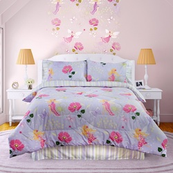 COOL KIDS ROOMS Veratex Bedding Collection Fairy Light Glow in The Dark Comforter Set, Lavender