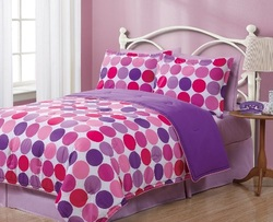 COOL KIDS ROOMS GEO CIRCLES COMFORTER REVERSIBLE SET -TWIN