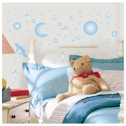 COOL KIDS ROOMS RoomMates Celestial Glow in the Dark Peel & Stick Wall Decals
