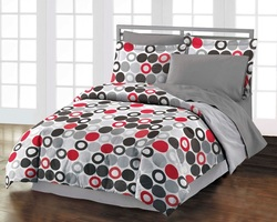 COOL KIDS ROOMS Circles and Polka Dot Twin Comforter Set 3 Pieces