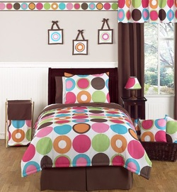 COOL KIDS ROOMS  Deco Dot Modern Bedding Set 4 pc Twin Set