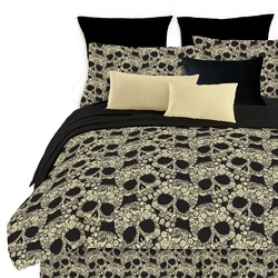 COOL KIDS ROOMS Veratex Flower Skull Comforter Set Fully Reversible