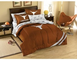 COOL KIDS ROOMS NCAA TEXAS LONGHORNS BED IN A BAG FULL 7PCS