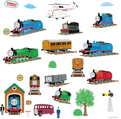 COOL KIDS ROOMS RoomMates Thomas The Tank Engine and Friends Peel and Stick Wall Decals