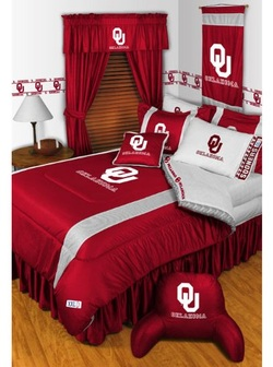COOL KIDS ROOMS NCAA OKLAHOMA SOONERS TWIN BEDDING SET