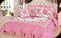 COOL KIDS ROOMS New Girly Girl 5-Piece Quilt Set, Patchwork, Pink