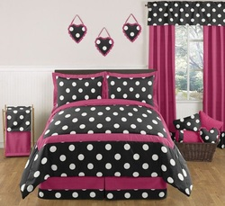 COOL KIDS ROOMS Hot Dot Modern Bedding by Sweet Jojo Designs 3pc Full / Queen Set