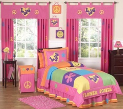 COOL KIDS ROOMS Groovy Peace Sign Children's Bedding 4pc Twin Set