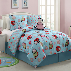 COOL KIDS ROOMS Lola the LadyBug 3 Piece Comforter Set