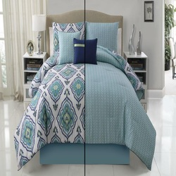 COOL KIDS ROOMS Victoria Classics Weston 5-Piece Comforter Set, Blue Full/Queen