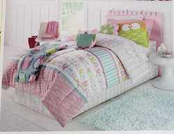 COOL KIDS ROOMS Jumping Beans 6 Pc Twin Bed Set Owl Friends Comforter Sheets