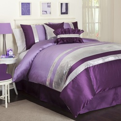 COOL KIDS ROOMS Jewel 6-Piece Comforter Set, Full, Purple