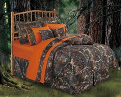 COOL KIDS ROOMS Accents Oak Camo Comforter Set 7 Pcs Queen. Twin and Full Also Available