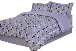 COOL KIDS ROOMS Divatex Dots Microfiber Bed In the Bag Twin 7 Pcs.
