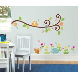 COOL KIDS ROOMS ROOMMATES Happi Scroll Branch Peel and Stick Wall Decals