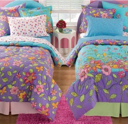 COOL KIDS ROOMS FLOWER POWER REVERSIBLE BEDDING SET