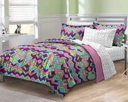 COOL KIDS ROOMS ALBUQUERQUE ZIG ZAG COMFORTER SET