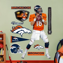 COOL KIDS ROOMS NFL Denver Broncos Peyton Manning Home Wall Graphics