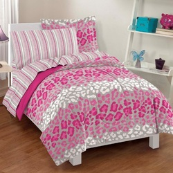 COOL KIDS ROOMS Safari Girl Pink Leopard Ultra Soft Microfiber Comforter Sheet Set 7 Pcs