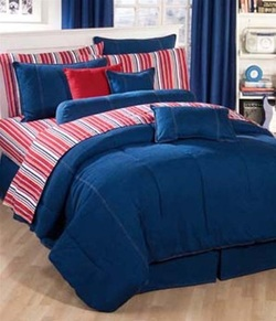 COOL KIDS ROOMS American Denim Comforter 4 Piece Set