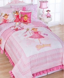COOL KIDS ROOMS Pinkalicious Fairy Princess 5pc Pink Twin Bedding Set