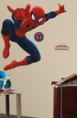 COOL KIDS ROOMS RoomMates Ultimate Spiderman Peel and Stick Giant Wall Decal