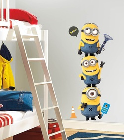 COOL KIDS ROOMS RoomMates Despicable Me 2 Minions Giant Peel and Stick Giant Wall Decals