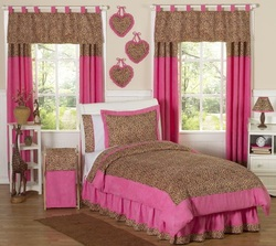 COOL KIDS ROOMS Cheetah Girl Pink and Brown Teen Bedding 3pc Full / Queen Set