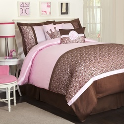 COOL KIDS ROOMS Lush Decor Leopard 6-Piece Comforter Set