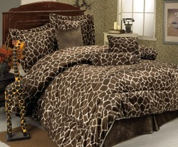 COOL KIDS ROOMS GIRAFFE ANIMAL PRINT FULL BED IN A BAG 11PCS