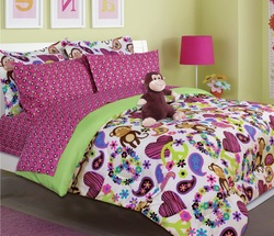 COOL KIDS ROOMS Fabian Monkey Bed in a Bag Comforter Set 6 Pcs