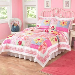 COOL KIDS ROOMS Pem America Olivia Pink Quilt Set Full 3 Pcs