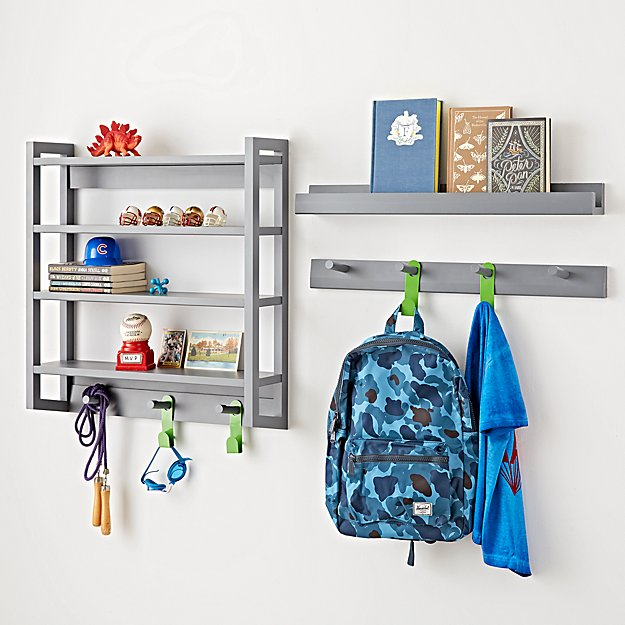 Land Of Nod Grey Shelves
