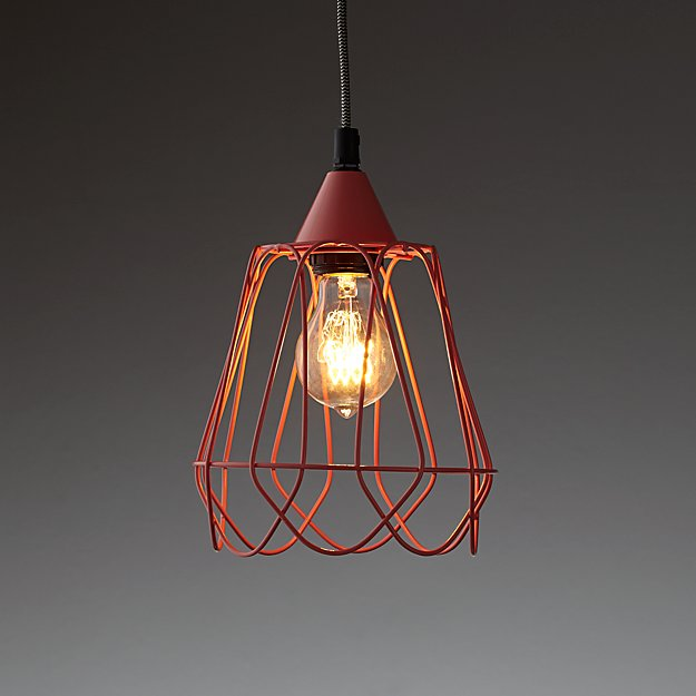 ​Wiry Pendant Light (Pink)