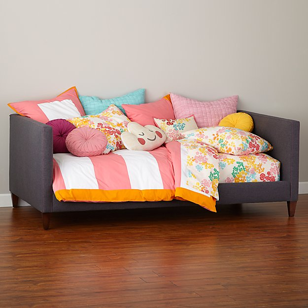 Silhouette Upholstered Daybed Grey And Hot Pink ​​