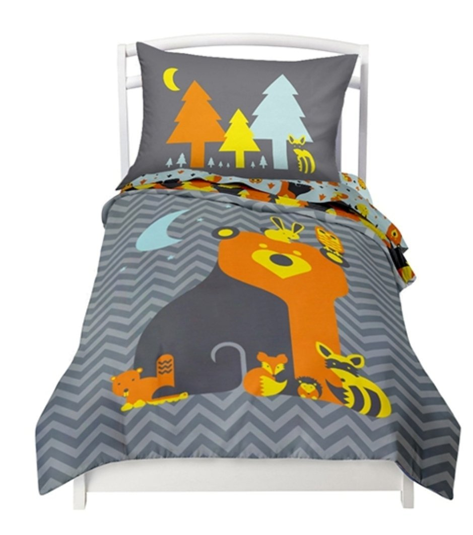Twin Reversible Woodland Creatures Duvet Cover Set